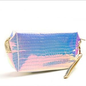 Handbags - Hologram Cosmetic Case Wristlet